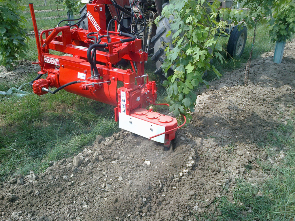INTER-ROW HARROW for vineyards and orchards Mod. ES - working width: 50/75 cm. - frame widths: various