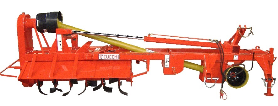 ROTARY HOE FOR PADDY FIELD EMBANKMENTS for milling the surface and the sides of paddy field embankments.
